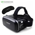 Shinecon caja gafas de realidad virtual vr vr auricular ipd 360 vidrios video 3d casco de 4.0-6.0 teléfono + control remoto inalámbrico