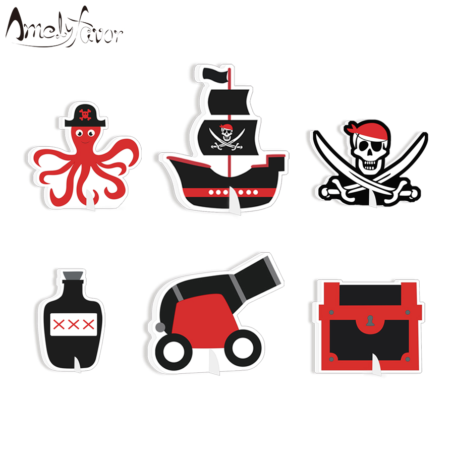 PIRATES of the CARIBBEAN CENTERPIECE ~ Birthday Party Supplies Table Decorations