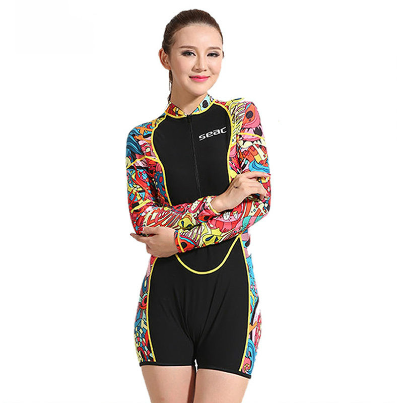 Hisea 0.5mm lycra Wetsuit Women Swimsuit Equipment Diving Scuba Swimming Surfing Spearfishing Suits Wetsuits swimwear one piece
