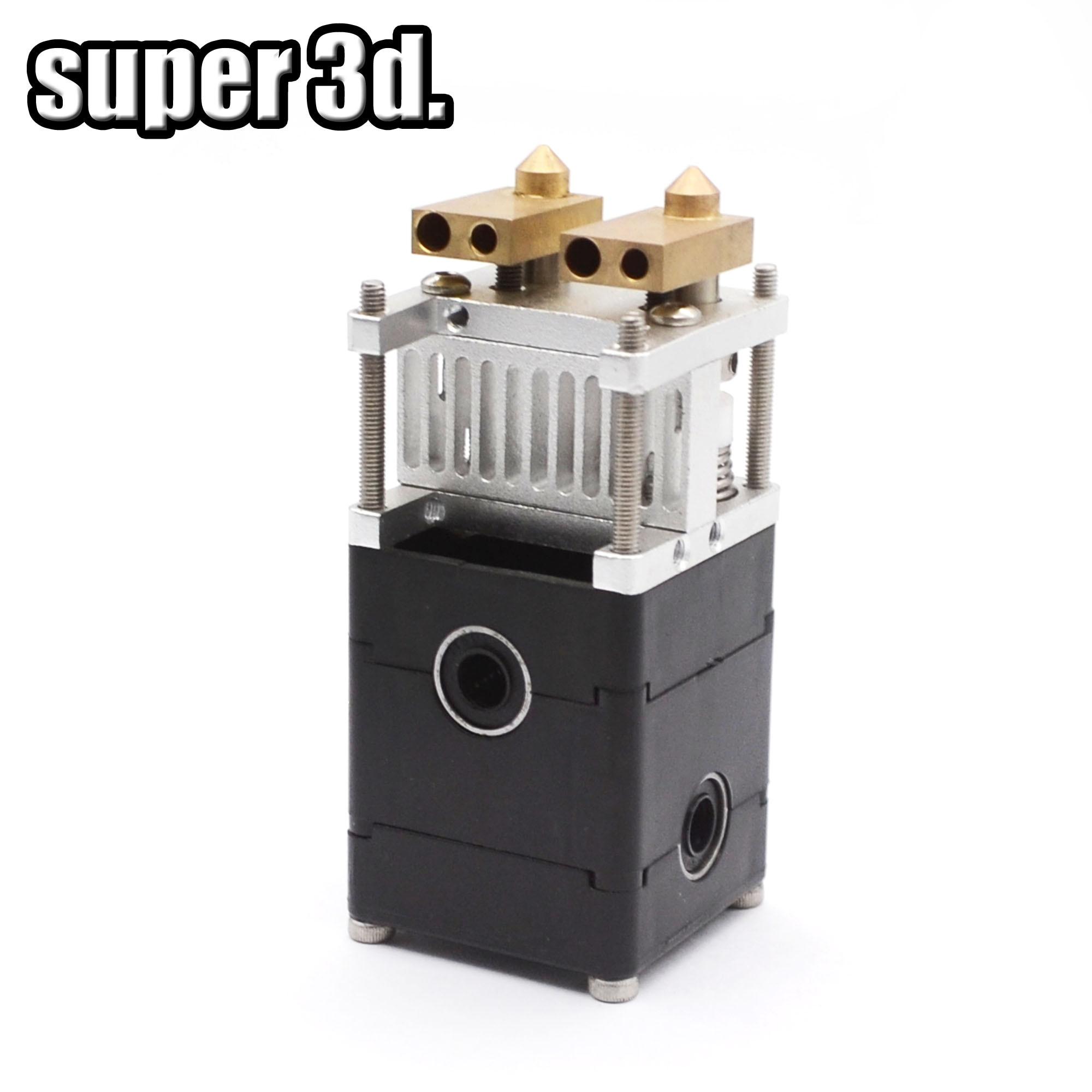 Kit de Impressora Dupla Extrusão Ultimaker 2 3D UM2 2 Cabeças Dupla Extrusora para 3mm/1.75 milímetros Ultimaker 2 bocal de 0.4 milímetros