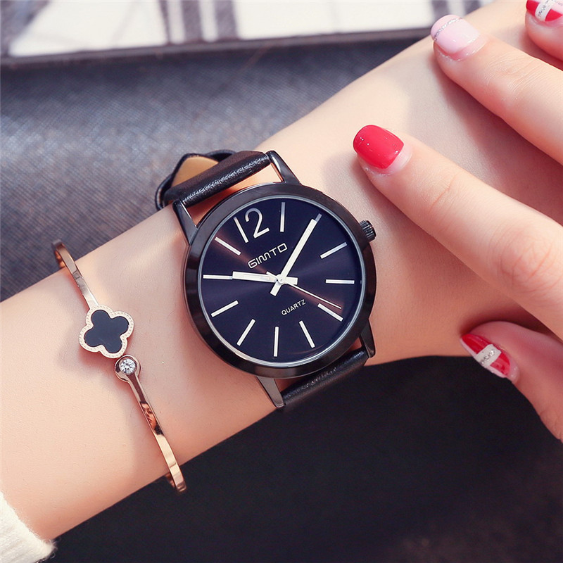 Gimto 2017 fashion quartz watch women watches ladies girls famous brand wrist watch female clock for Watches brands for girl