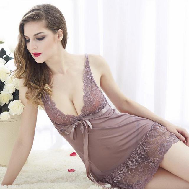 5 Cores Venda Hot Sexy Lace Oco Out V Profundo Tentação de Funda Camisola Curta de Aço Suporte de Algodão Lingerie Sexy Lingerie