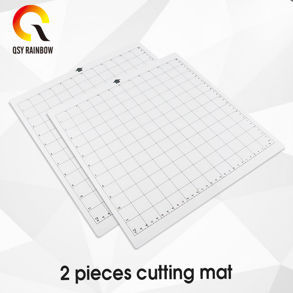 2Pack Replacement Cutting Mat Transparent Adhesive Mat With Measuring Grid 12 By 12-Inch For Silhouette Cameo Plotter Machine