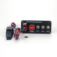 High Quality carbon fiber Racing Car 12V Ignition Switch Panel Engine Start Push Button LED Toggle