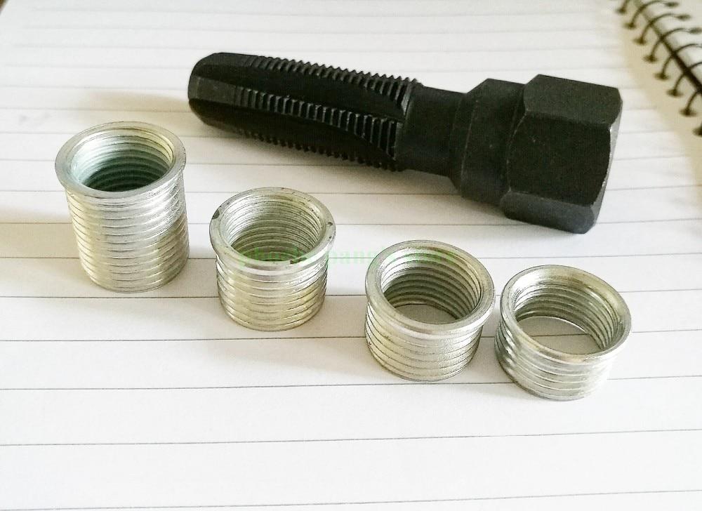 M18*1.5 Aramox Tap Tool,2Pcs Carbon Steel Spark Plug Thread Insert Tap Set M10*1.0 M12*1.25 M14*1.5