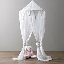 Kid Baby Bed Canopy Bedcover Solid Mosquito Net Curtain Bedding Round Dome Tent Cotton Crib Netting