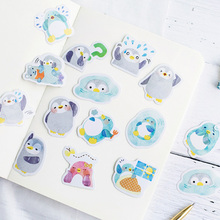 45 Pcs/pack cute penguin mini paper stickers Diary Decoration DIY Scrapbooking Label Seal Sticker kawaii Stationery 46 pcs box cute mini vintage travel sticker scrapbooking diy paper pack seal label diary bullet journal kawaii stationery 1t807