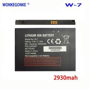 WONKEGONKE W-7 Battery W7 For Netgear Sierra Aircard 790S 810S Battery Wireless Router 2930mAh 3.8V(China)