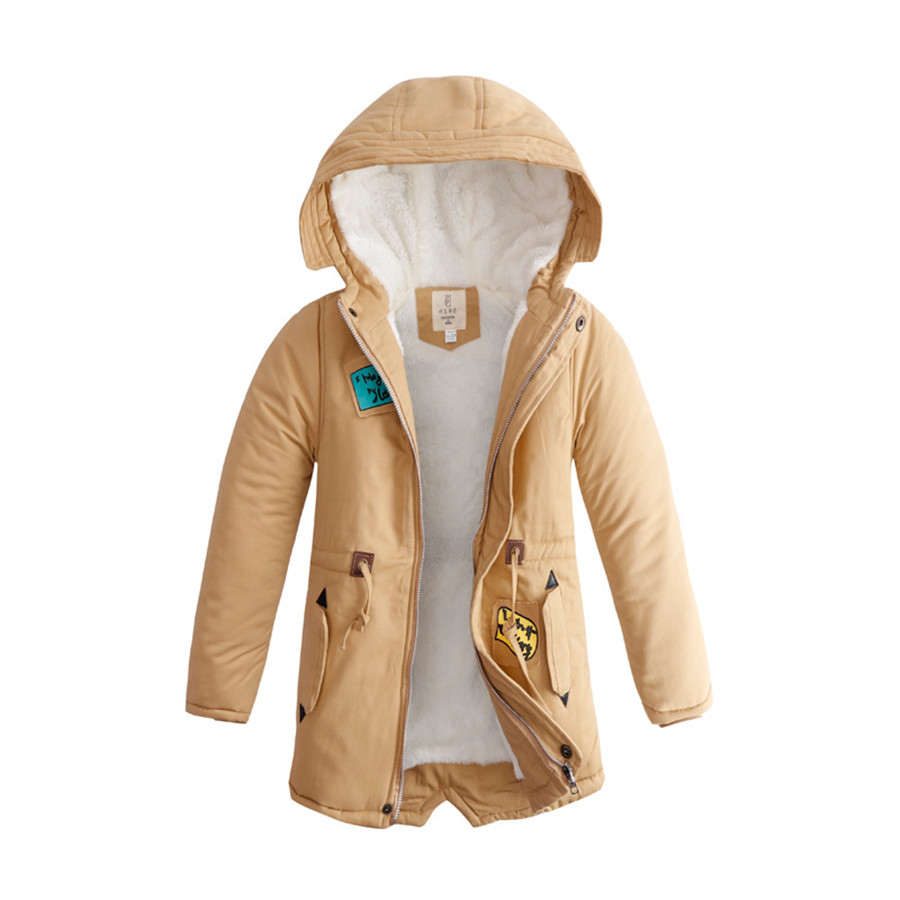 Jackets For Boys Thick Warm Coat Children European Style Army ...
