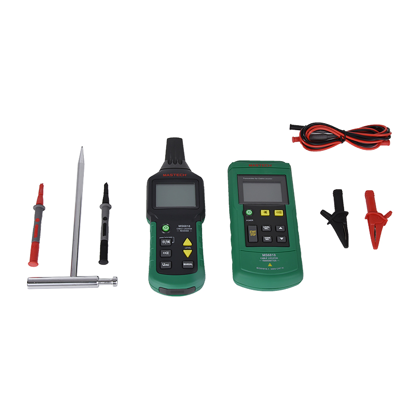 цена на 1 Pcs Professional Mastech MS6818 Wire Cable Tracker Metal Pipe Locator Tester Meter 12~400V Detector
