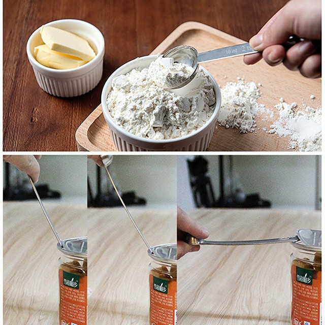 6 pcs/set Stainless Steel Measuring Cups