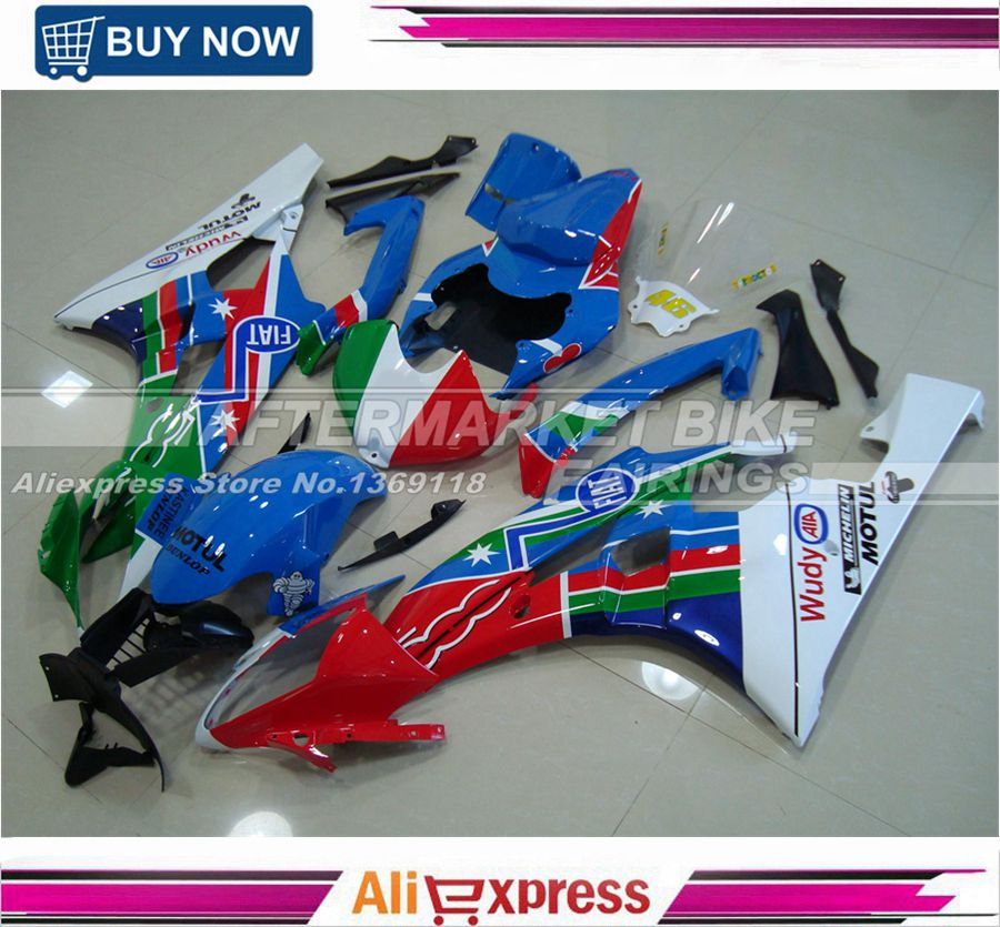 Custom Special Decals Motorcycle 06 07 YZF R6 2006 2007 Fairing Body For Ymaha ABS Fairings Kit Free Shipping aftermarket free shipping motorcycle parts eliminator tidy tail for 2006 2007 2008 fz6 fazer 2007 2008b lack