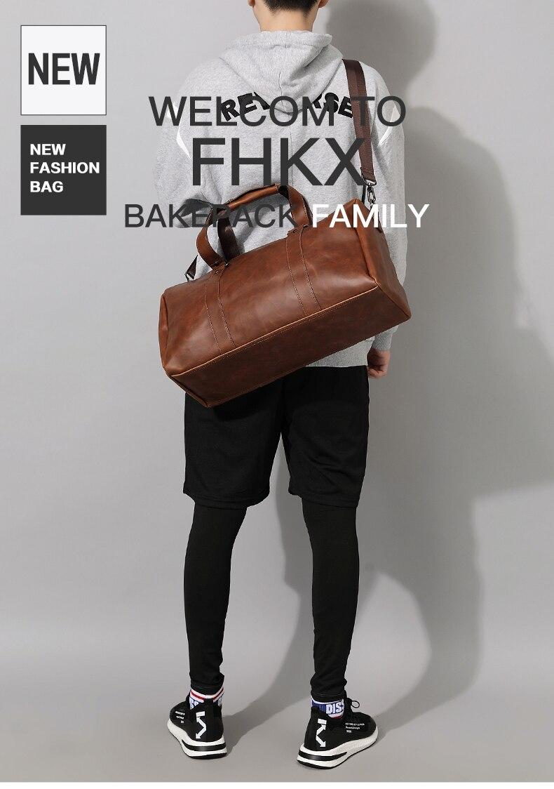 0ca054ef807 Men Vintage Handbags Travel bags Gym bags. Large Capacity Duffle bags  Business Package Crossbody bags. Single Shoulder Bags. 50cm*17cm*24cm