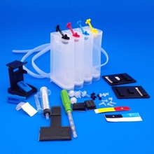 123XL 4 Couleur imprimante recharge Cartouche d'encre compatible réservoir d'encre CISS pour Deskjet 1110 2130 2132 2133 2134 3630 kit complet accesseur