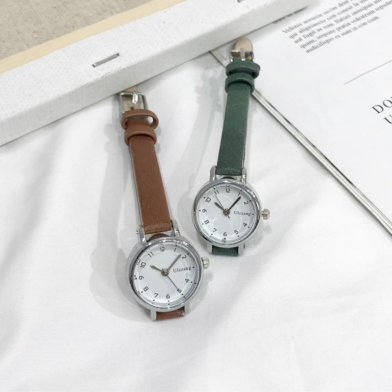 שעון יד נשים עם רצועת עור דק במיוחד חברת Ulzzang 3