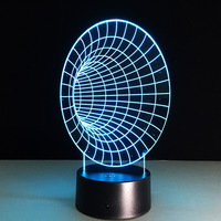 Space Tunnel 3D Led Lamp 7 Color Night Lamps For Kids Touch Led Usb Table Lampara