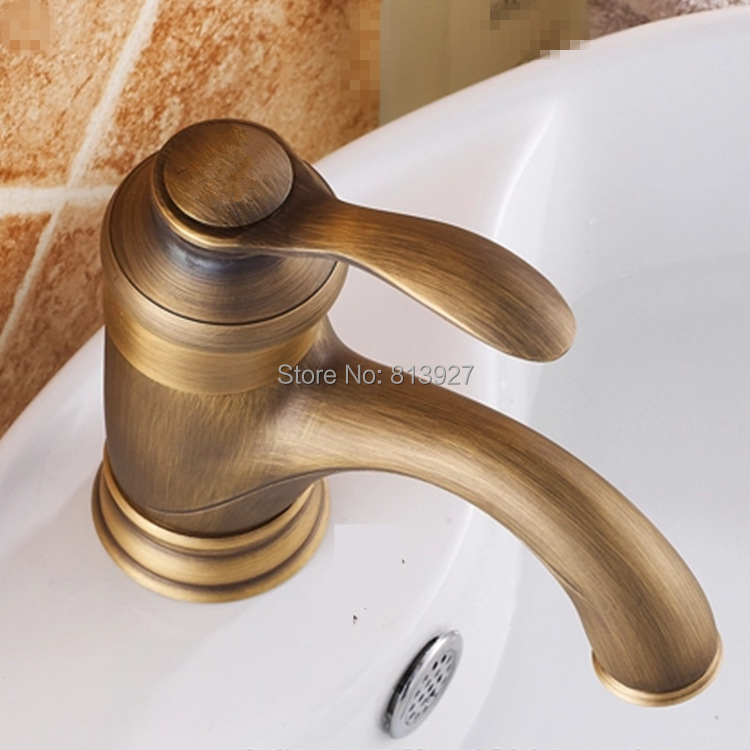 antique basin faucet with solid brass bathroom basin sink faucet ...
