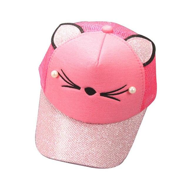 MUQGEW Toddler Kids Baby Boy Girl Pink Black Silver Blue Hats Infant Sequins Letter Baseball Child Hat Cap Kids Beautiful Caps