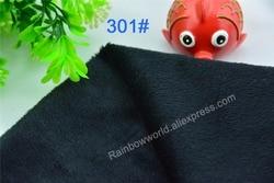 301 # noir Super doux velours tissu microfibre velboa cheveux hauteur 0.5-1.5mm pour bricolage Patchwork jouets en peluche oreillers (10 pièces)