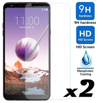 2 x 9H HD Tempered Glass Screen Protector Explosion-proof Bubble Free Front Guard Films For LG Stylo 4 / Q Stylus Plus Q710MS