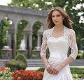 3/4 Manga da Jaqueta de Noiva de Renda Branca/Marfim Bolero/Envoltório/Ombros Para Vestido de Noiva