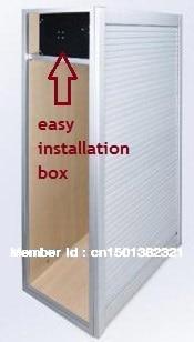 W600 H600mm Aluminum Roller Shutter Tambour Door Kitchen Cabinet. Kitchen  Cabinet Roller Shutter Suppliers Bar