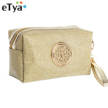 eTya Women Cosmetic Bag Travel Make Up Bags Fashion Ladies Makeup Pouch Neceser Toiletry Organizer Case Clutch Tote Hot Sale cheap Cosmetic Cases 13cm Zipper 23cm Cosmetic Bags Cases Polyester Solid China (Mainland) Cosmetic Makeup Bag Makeup Pouch Toiletry Organizer
