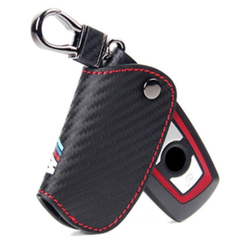 Carbbon Fiber De Key Case Cover Pour Bmw E46 E39 E90 E60 E36 F30 E34 F10 F20 E30 X5 E53 X1 G30 E87 E91 X3 F25 X6 M M3 M5 M emblème