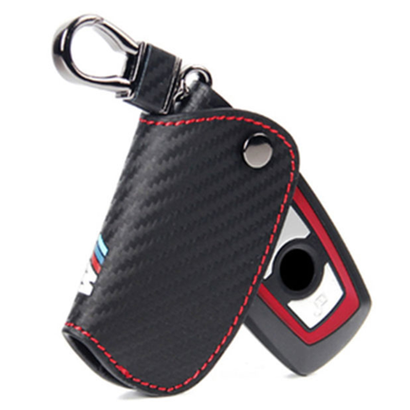 Carbbon Fiber Key Case Cover For Bmw E46 E39 E90 E60 E36 F30 E34 F10 F20 E30 X5 E53 X1 G30 E87 E91 X3 F25 X6 M M3 M5 M emblem leahter key holder car styling emblem wallets shell case for bmw m 1 3 5 7 series m3 m5 x1 x3 x5 e34 e36 e38 e39 e46 e30 e92 f30