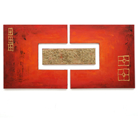 Christmas Gifts Red Gold Color 100 Hand Painted Abstract Oil Painting Modern Wall Art Decor Unframed