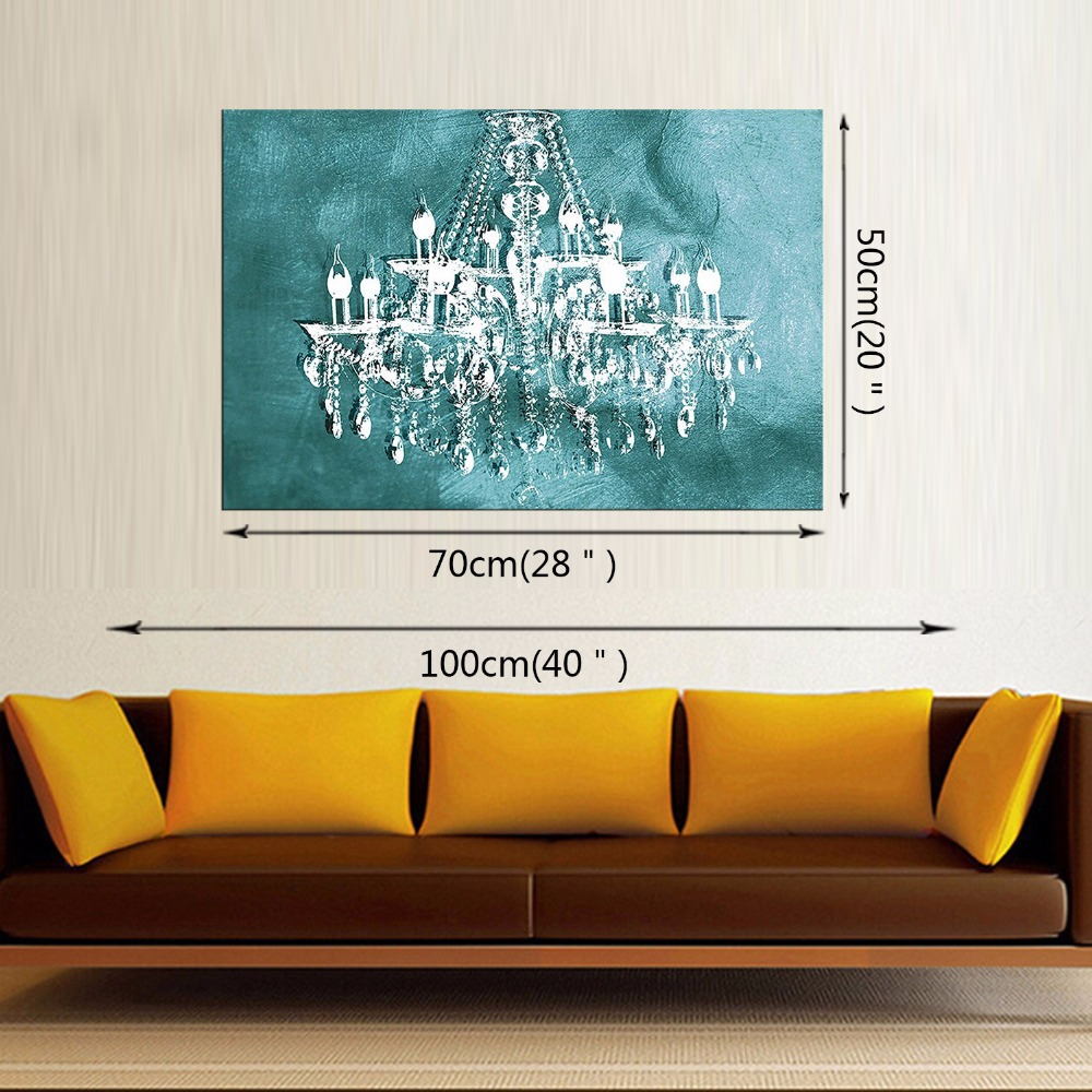 1 Panel Modern Painting Canvas Art Crystal Chandelier Pattern Retro Living  Room Bedroom Wall Art Posters And Prints Framed In Painting U0026 Calligraphy  From ...