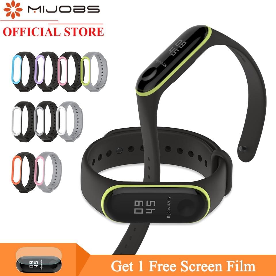 Mijobs Silicone Strap For Xiaomi Band 4 3 Smart Bracelet Mi Band 4 Strap Wristband Smart Watch Accessories Miband 3 Wrist Strap
