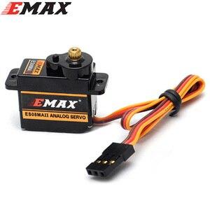 Image 2 - 4 pièces/lot EMAX ES08MA II Mini engrenage métallique Servo analogique 12g/ 2.0kg/ 0.12 Sec Mg90S