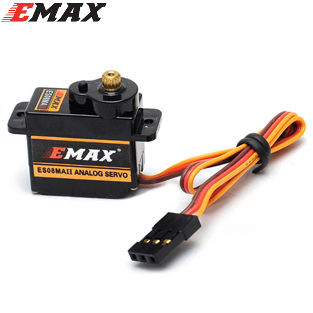 4pcs/lot EMAX ES08MA II Mini Metal Gear Analog Servo 12g/ 2.0kg/ 0.12 Sec Mg90S