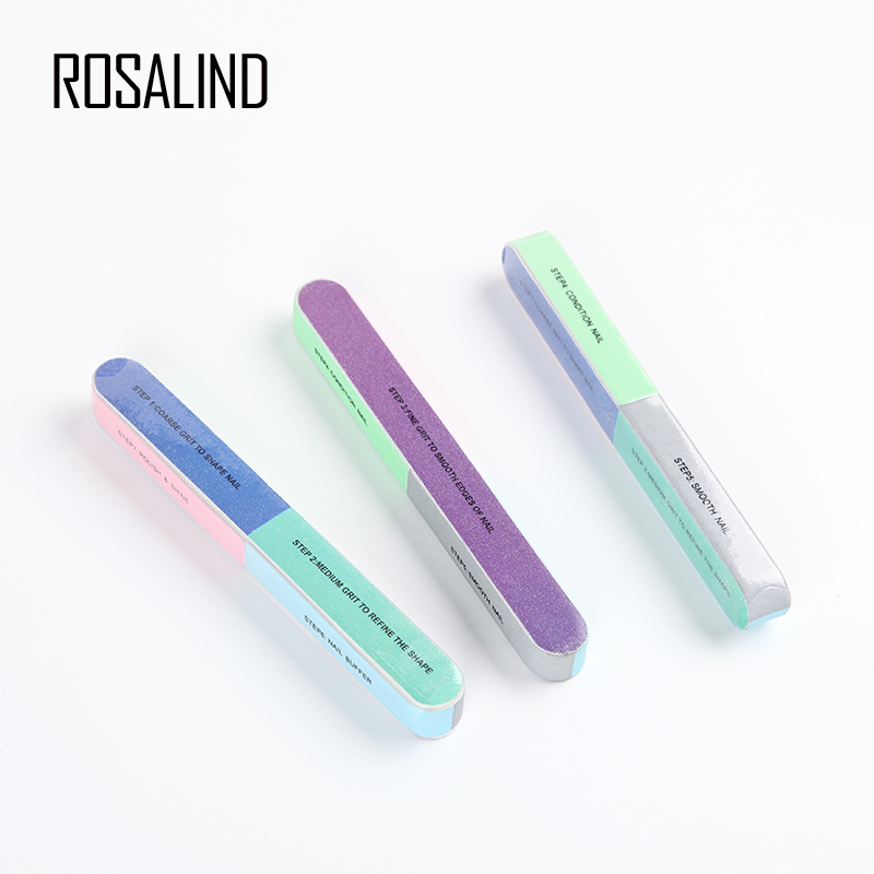 ROSALIND 1PCS Multi-Function Nail File Buffer For Nail Gel Manicure Tool Nail Remover For Gel Varnish Art