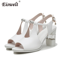 EISWELT Women New Buckle Pumps Female Summer High Heels Ladies Fashion Casual Spring Shoes Solid Female