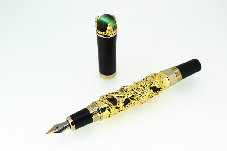 JINHAO GOLDEN DRAGON KING PLAY PEARL M 18KGP NIB FOUNTAIN PEN BLACK комплект для татуировки oem 1 gig set golden dragon