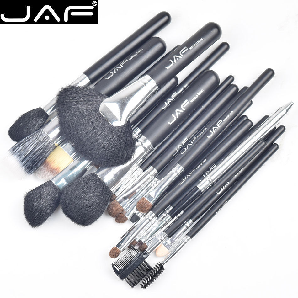JAF 20 Pcs/Set Pro Soft Makeup Brushes Premiuim Natural Hair of Goat & Pony Horse Brush Tool Women Cosmetic pinceis de maquiagem evaluation of goat milk