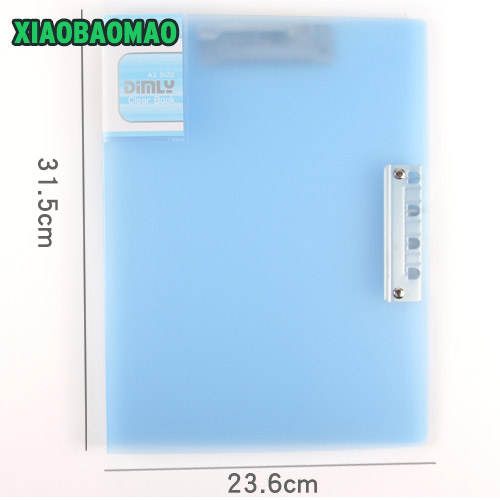 Office A3 folder transparent horizontal file book,a3 clip file report Document ,Office Supplies Stationery file folder m&g a4 single clip transparent two page file sleeve l type folder file bag office supplies 30pcs