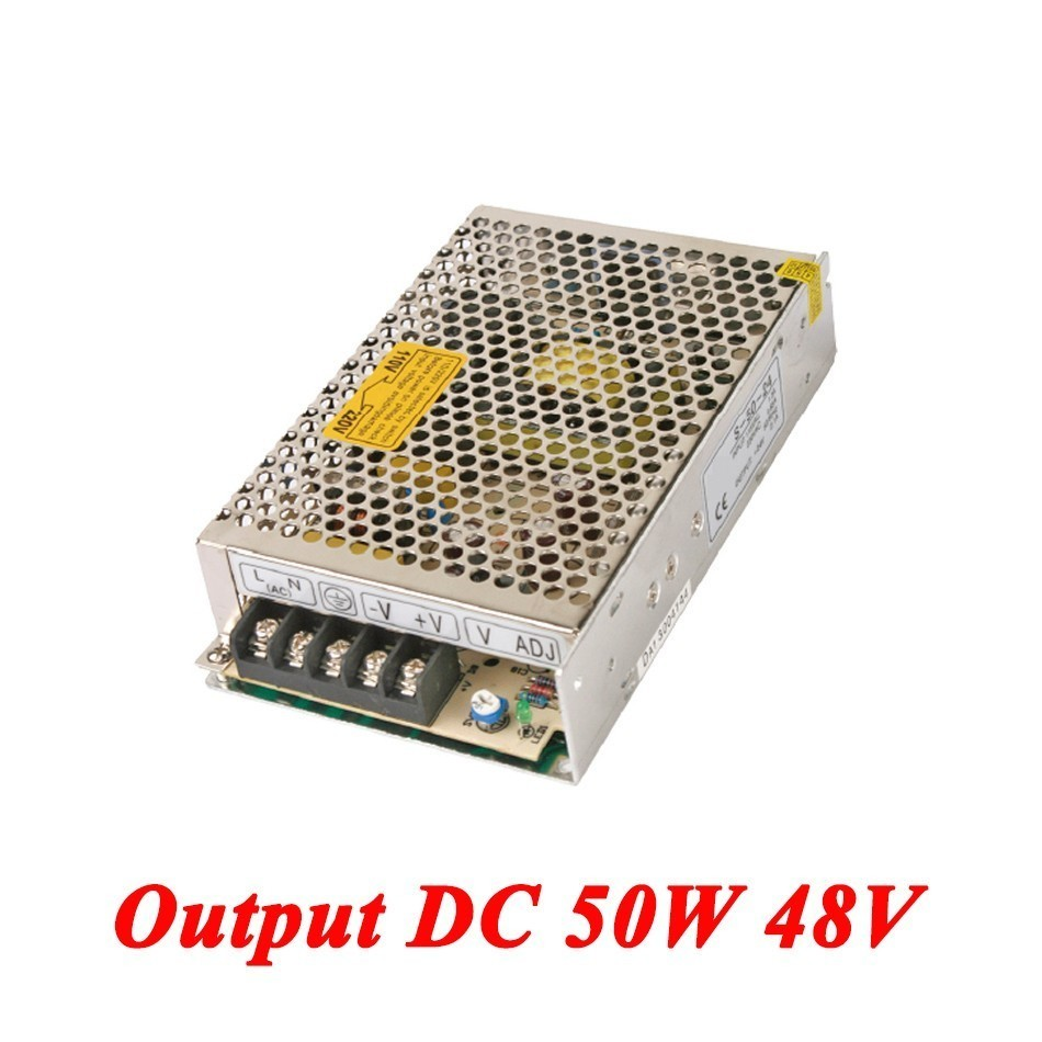 S-50-48 switching power supply 50W 48V 1A Single Output AC-DC power supply for Led Strip,transformer AC 110v/220v to DC 48v led power supply 48v 201w ac to dc switching power supply ac dc converter high quality s 201 48v free shipping