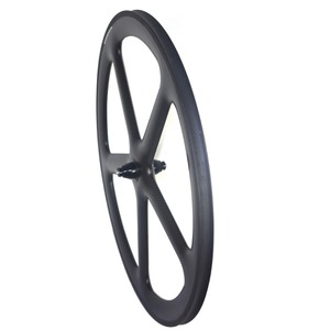 Image 5 - 5 raios de estrada carbono rodado freio a disco clincher rodas tubulares 700c centerlock 6 parafusos bloqueio