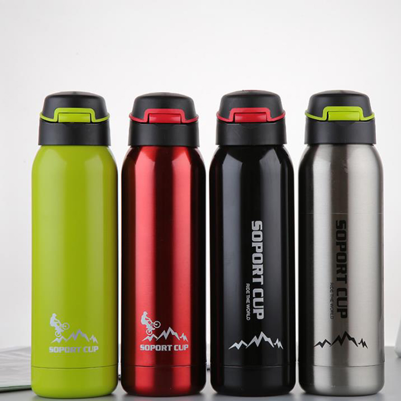 450ML Bike Water Bottle Outdoor Sport Portable Bicycle Kettle Stainless Steel Mountain Cycling