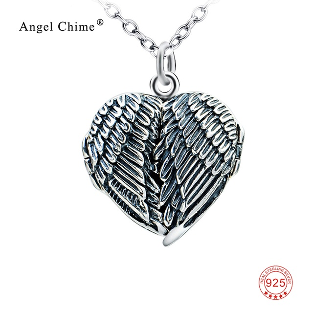 100% Real 925 Sterling Silver Heart Locket Photo Frame Pendants ...