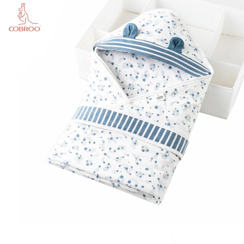 COBROO couverture bébé nouveau-né Swaddle avec motif étoile coton bébé emmaillotage couette pour 0-6-12 mois