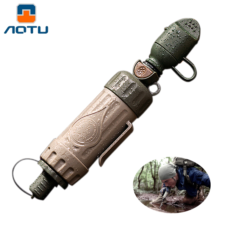 Outdoor Portable ABS Survival Water Purification Purifier Can Drink Water Water Filter Directly For Camping Emergency Kit outdoor portable l630 water filter emergency survival kit for hiking and camping
