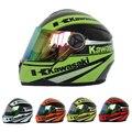 Marca Kawasaki Motocicleta de la Cara Llena Casco de la Motocicleta Capacete casco