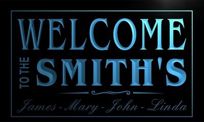 x1001-tm Smiths Family House Custom Personalized Names Neon Sign Wholesale Dropshipping On/Off Switch 7 Colors DHL
