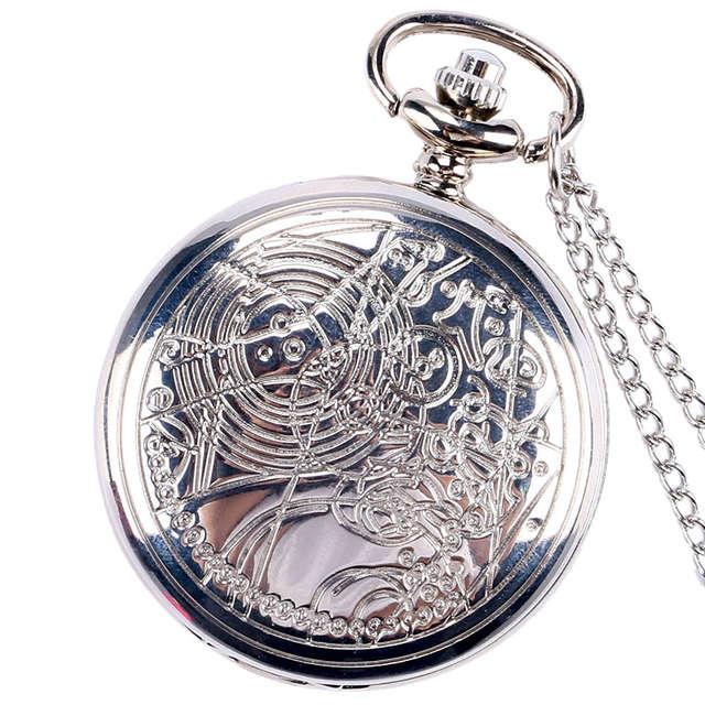 b0d91b6f2aa placeholder Vintage Bronze Silver Black Doctor Who Quartz Pocket Watch Men  Women Necklace Pendant with