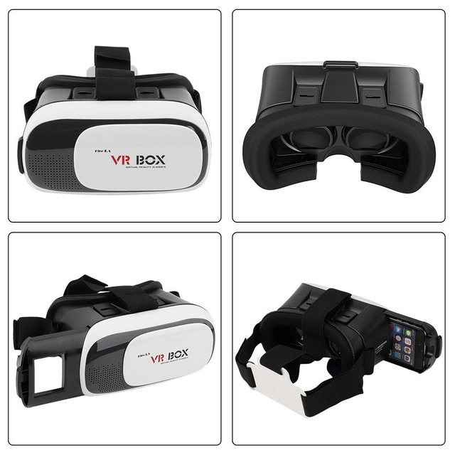 HOT Head MountedGoogle cardboard VR BOX II 2.0 3D Virtual Reality Glasses 3D Movie Game +Wireless intelligent controller