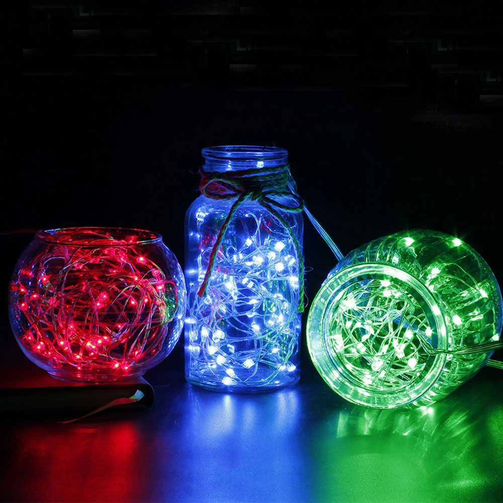 10/20 LED Copper Wire String Light Waterproof Glass Bottle Fairy Lamp Wedding Favors and Gift Valentines Day Indoor Decoration